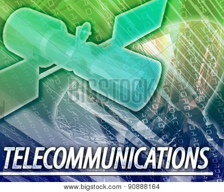 Abstract background digital collage concept illustration telecommunications technology