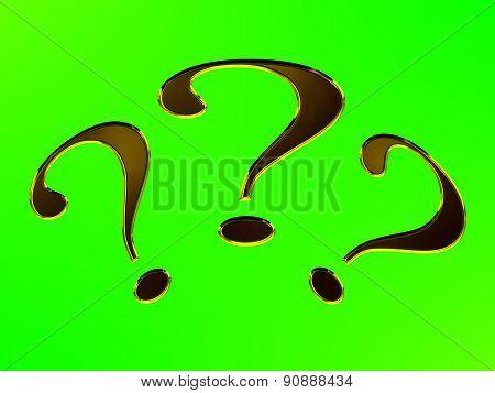 question mark, gel effect