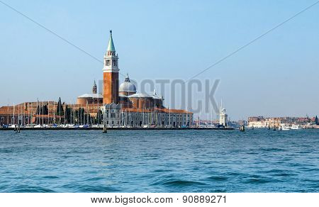 Panoramic view of Landmarks in Venice