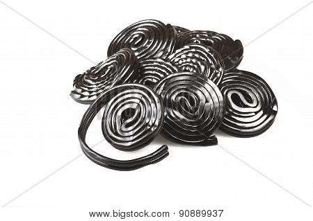 Licorice wheels candies
