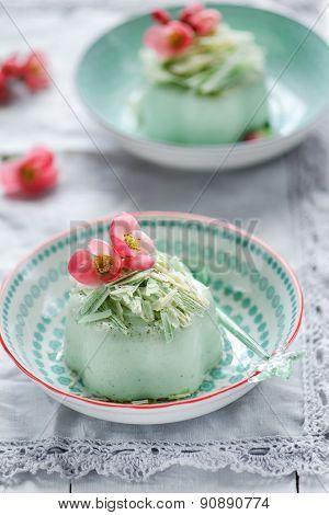 Green tea Panna Cotta