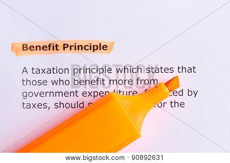 Benefit Principle