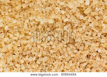 Granules of brown sugar macro shot