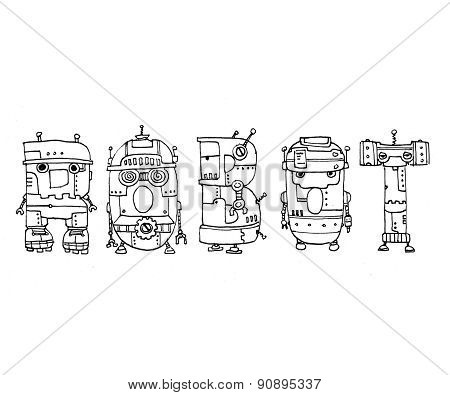 Robot text illustration