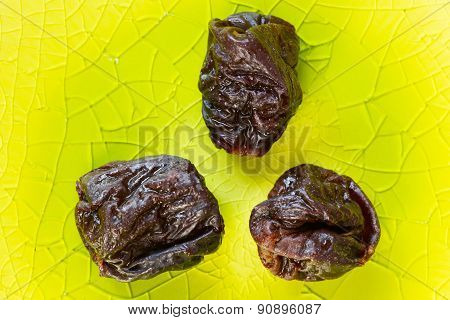 Prunes close up