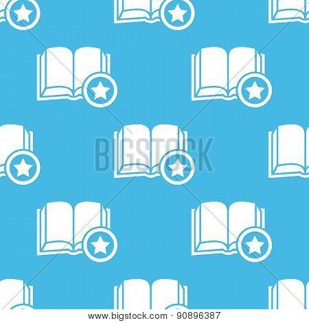 Blue favorite book pattern