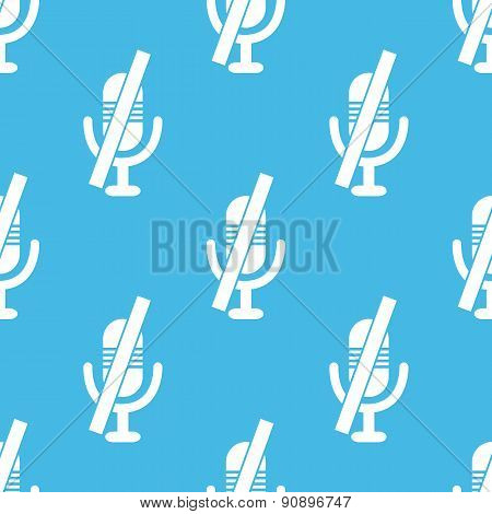 Blue muted microphone pattern