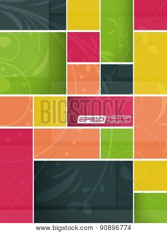 Abstract colorful background in metro style, vector illustration