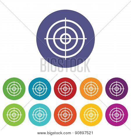 Aim icon set