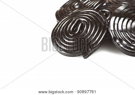 Licorice wheels candies