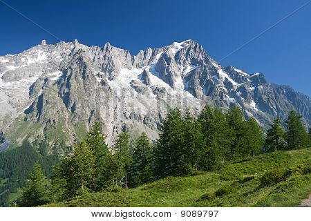 Les Grandes Jorassese - Mont Blanc