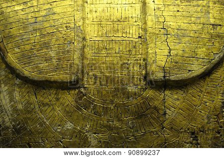 Details Of Gold Egyptian Sarcophagus