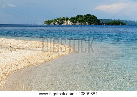 Beach With The Crystal-clear Water