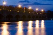 picture of lenin  - Evening view of the pier of the first lock of the Volga - JPG