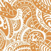 stock photo of maori  - Elements for this pattern made in the style of the tribe Maori - JPG