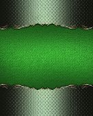 foto of nameplates  - Green nameplate with grunge edges - JPG