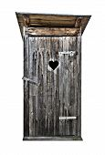 pic of hillbilly  - Small wooden outdoors toilet isolated on white - JPG