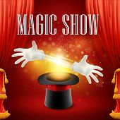 image of sorcery  - Magic trick performance - JPG