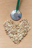 foto of oats  - Dieting healthcare concept - JPG
