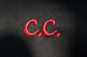 foto of initials  - Embroidery of initials or clothing logo with C - JPG