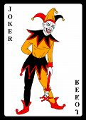 Постер, плакат: Joker in colorful costume playing card