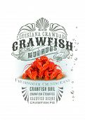 picture of crawfish  - Louisiana crawfish NOLA Collection isolated on white - JPG