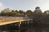 picture of castle  - This photo was shot from Osaka Castle Japan in the evening - JPG