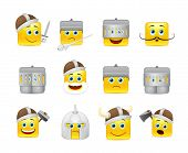 picture of emoticons  - Funny and cute emoticons Knights and Vikings yellow - JPG