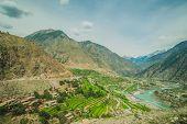 picture of karakoram  - Idyllic of mountain peak Northern area of Pakistan - JPG