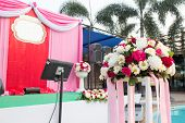 picture of stage decoration  - Beautiful wedding stage - JPG