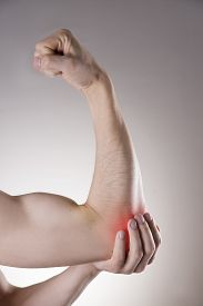 stock photo of cubit  - Pain in the joints of the hands - JPG