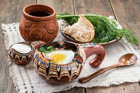 image of stein  - Popular russian spring cold soup  - JPG