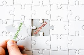 picture of ignore  - Hand with missing jigsaw puzzle piece - JPG