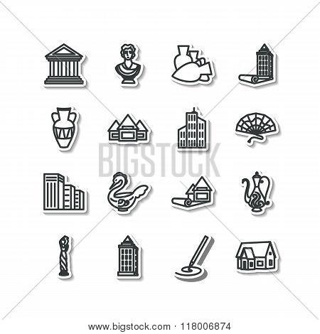 Set Of Icons - Architecture, Sculpture, Decorative Arts