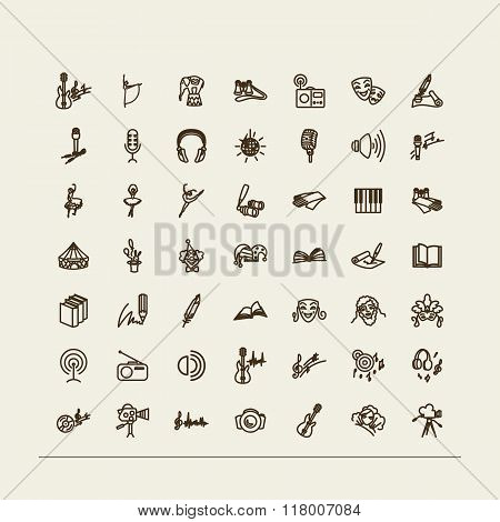 Set Of Icons - Arts.