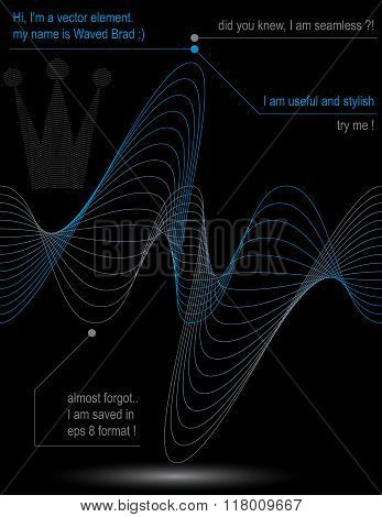 Rhythmic Flowing Lines, Chiffon Dynamic Background, Abstract Seamless Backdrop. Creative Web Design