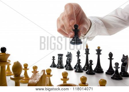 Business concept strategy, leadership, team and success. Busines