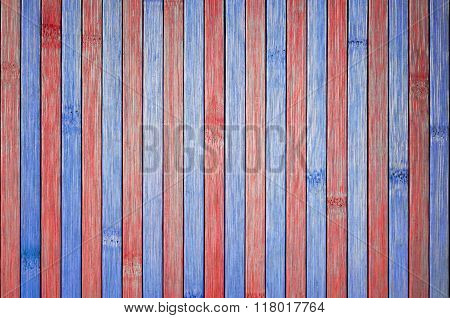 Wooden Table In The Domestic United States Colors.