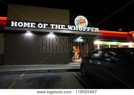 Burger King at Night