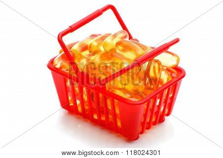Cod Liver Oil Omega 3 In The Shopping Basket