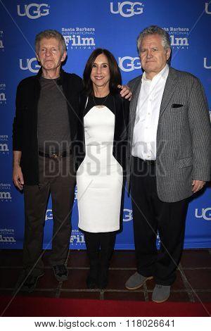 SANTA BARBARA - FEB 12:  Billy Hayes, Sally Sussman, Tom Morina at the 31st Santa Barbara International Film Festival - Cinema Vanguard Award on February 12, 2016 in Santa Barbara, California