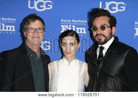 SANTA BARBARA - FEB 12:  Todd Haynes, Rooney Mara, Roger Durling at the 31st Santa Barbara International Film Festival - Cinema Vanguard Award on February 12, 2016 in Santa Barbara, California