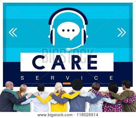 Care Service Welfare Help Attend Concept