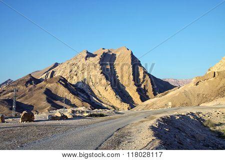 Entrance In Makhtesh Katan In Negev Desert