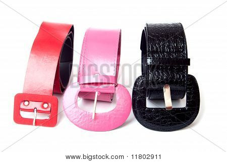 Three Leather Belt