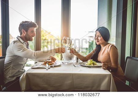 Couple In Restaurant