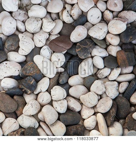 abstract background with round peeble stones black and white
