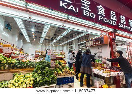 People Shopping At Hong Kong City Street