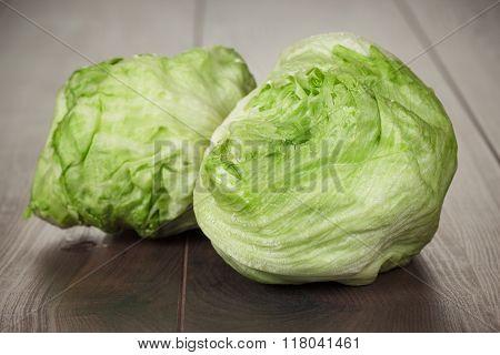 fresh green iceberg salad