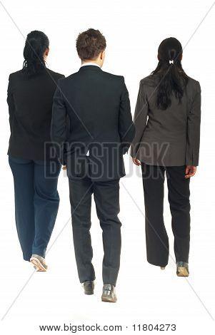 Back Of Business People Walking